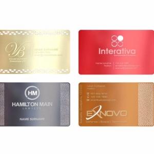 Металлические визитные карточки, полноцветная печать и гравировка