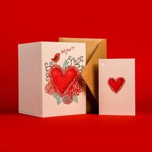 Печать открыток в фирменном паттерне