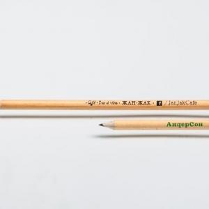 Классические простые карандаши с логотипом