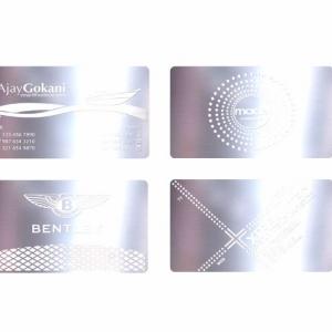 Металлические визитки с гравировкой