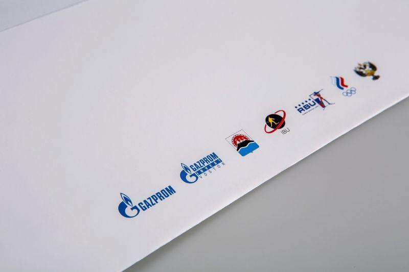 Конверт из дизайнерской бумаги, полноцветная печать