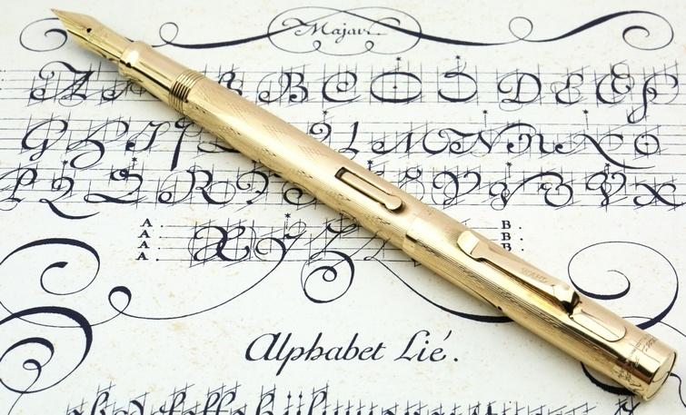 Перьевая ручка с гравировкой, металл