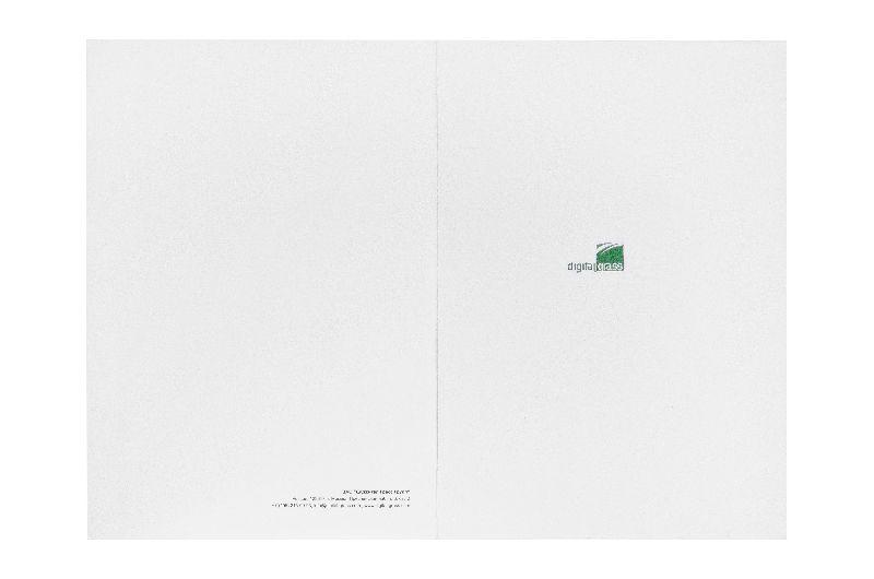 Белоснежная фирменная папка с лого