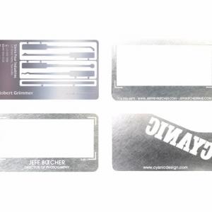 Персональные визитки из металла