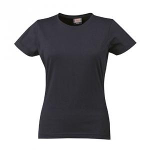 Женская футболка приталенная черного цвета