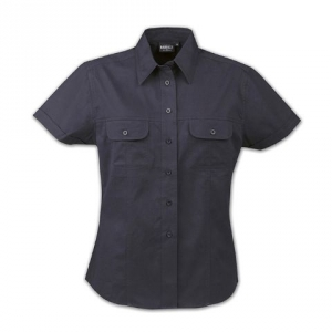 Черная женская рубашка приталенная