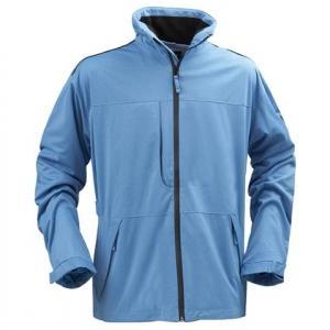 Удлиненная куртка голубого цвета