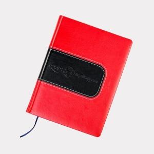 Деловой ежедневник из красной кожи