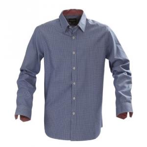 Синяя мужская рубашка с длинным рукавом