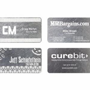 Фирменные визитные карточки из металла