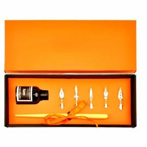 Подарочный набор с перьевой ручкой из металла