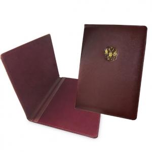 Кожаная папка с гербом