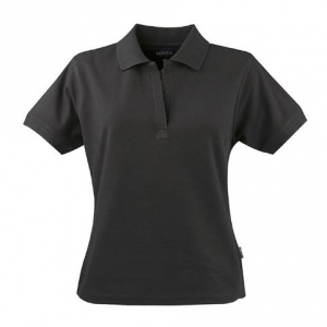 Черная рубашка поло женская