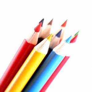 Цветные карандаши круглой формы