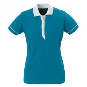 Рубашка поло женская, прилегающий силуэт
