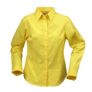 Женская рубашка с длинными рукавами желтого цвета
