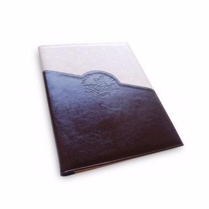 Оригинальный ежедневник из кожи и ткани