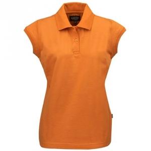 Оранжевая рубашка поло женская