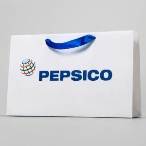 Корпоративный пакет с ленточными ручками