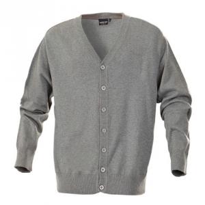 Серый свитер с пуговицами