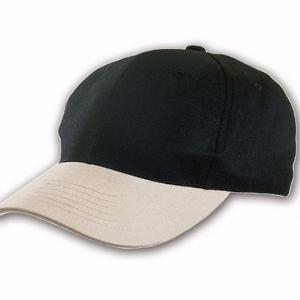 Черная бейсболка, 6 клиньев
