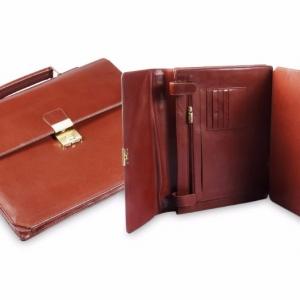 Папка-портфель из натуральной кожи