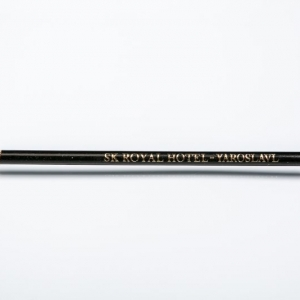 Простой карандаш с тиснением логотипа