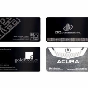 Металлические визитные карточки с гравировкой