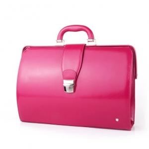 Стильный розовый портфель-папка