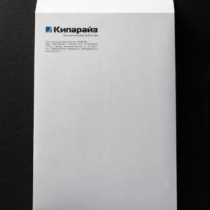 Фирменный конверт с матовой ламинацией с одной стороны