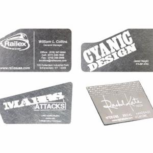 Авторские визитки из металла