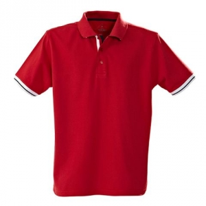 Красная рубашка поло мужская