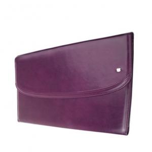 Фиолетовая папка из натуральной кожи