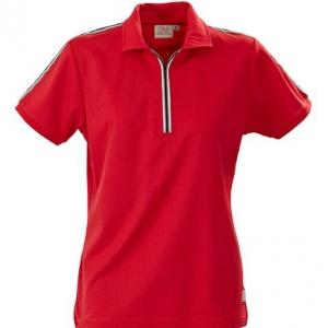 Рубашка поло женская со стоячим воротником