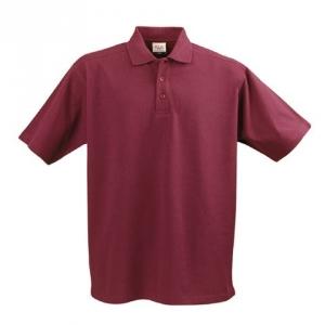 Мужская рубашка поло со стоячим воротником