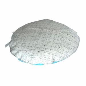 Круглая подушка из натурального шелка