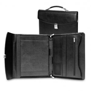 Строгий черный портфель-папка