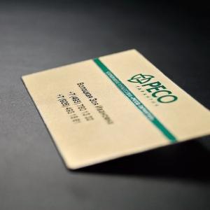 Фирменная визитка из металла