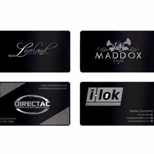 Матовые визитки из металла