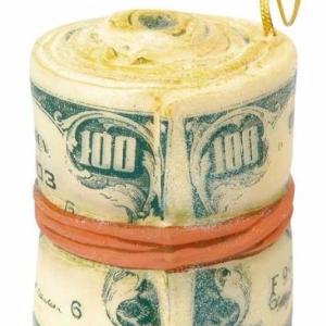 Ёлочная игрушка «Банкноты»