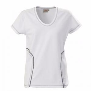 Облегающая футболка белого цвета