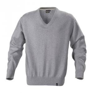 Трикотажный свитер серого цвета