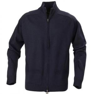 Черный трикотажный свитер с карманами