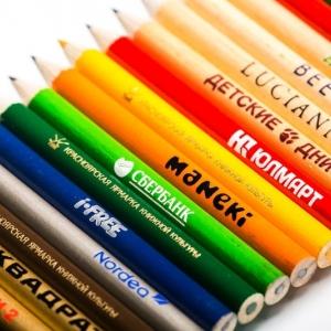 Фирменные разноцветные карандаши