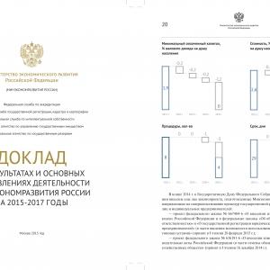 Аналитическая инфографика в официальном докладе