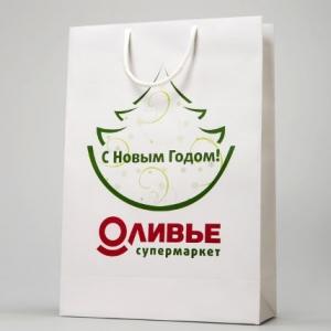 Брендовый новогодний пакет