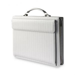 Белый кожаный портфель