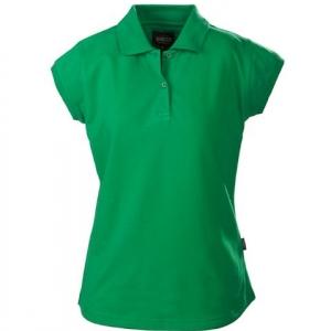 Зеленая рубашка поло женская
