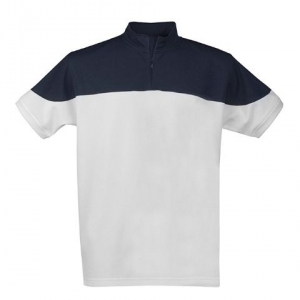 Рубашка поло со стоячим воротником