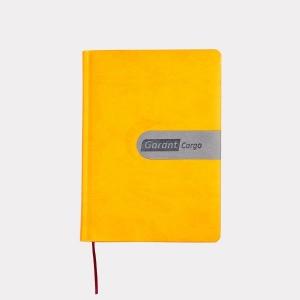 Яркий ежедневник лимонного цвета